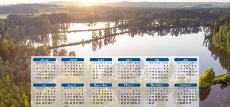 """Wandkalender """"Erlebnis Fisch"""" 2021 ab sofort erhältlich"""